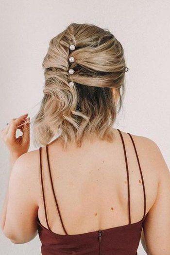 penteado solto para cabelo curto