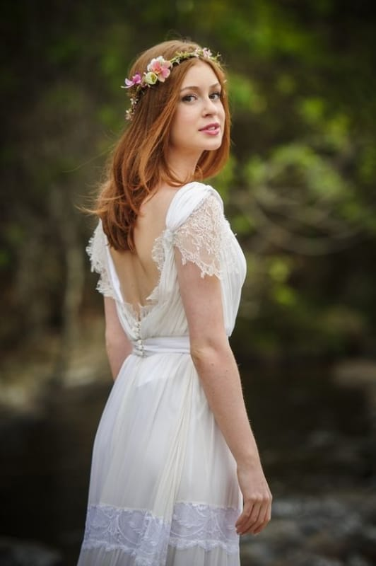 penteado solto para noiva de cabelo médio
