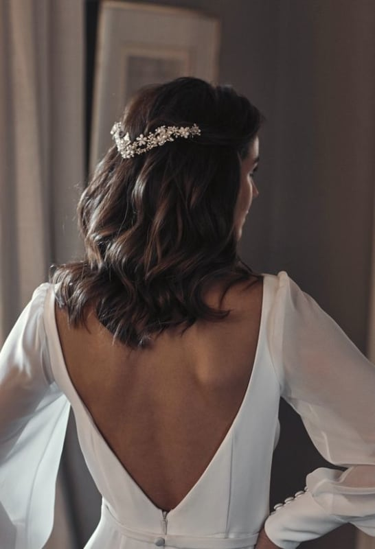 penteado de noiva para cabelo médio