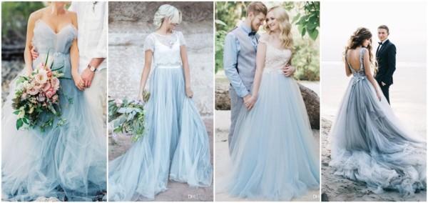 vestido de noiva azul claro