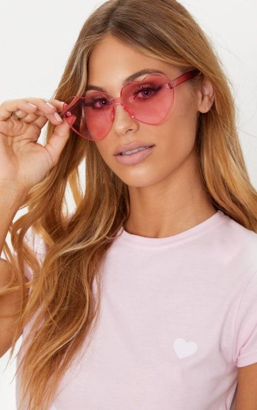 óculos feminino de coração