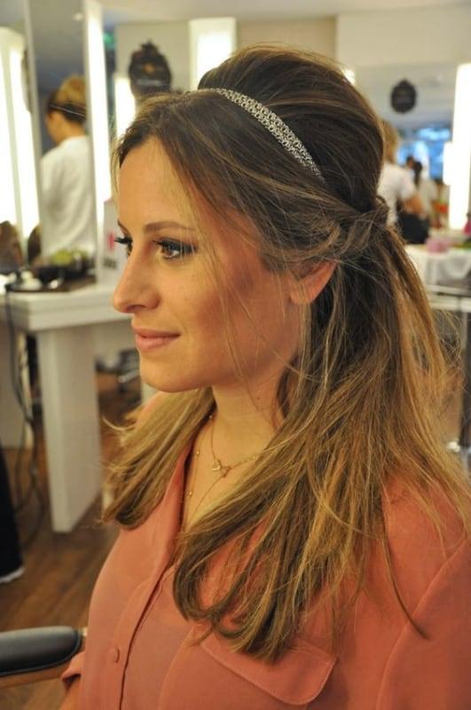penteado semi preso para cabelo médio