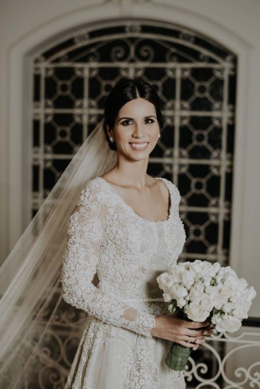 vestido de noiva de renda richelieu