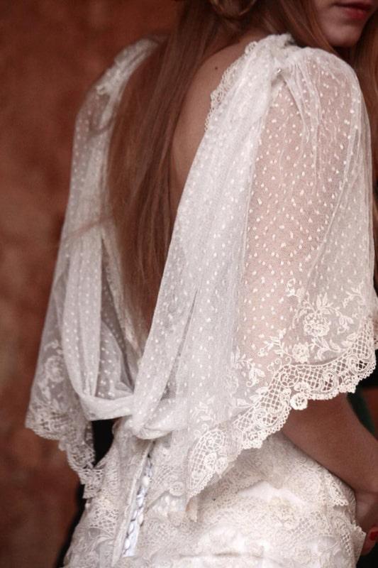 vestido de noiva de renda ponto suíço