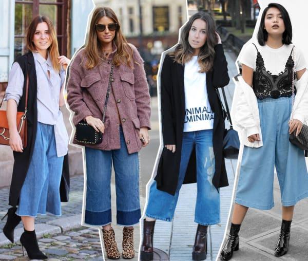 A moda da pantacourt jeans
