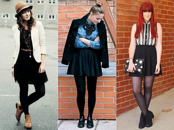 Bota chelsea feminina com saias pretas