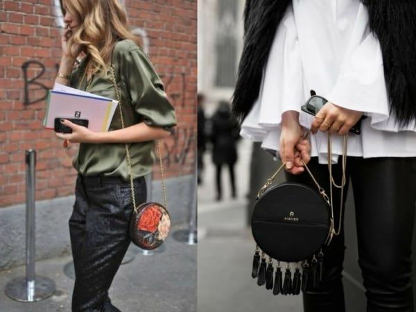 Bolsas redondas para diversos looks