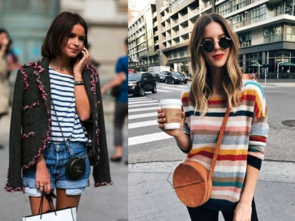 Dois looks com bolsas redondas de couro