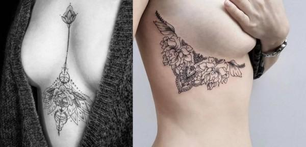 Duas ideias de tatuagens underboob