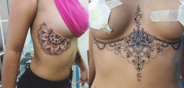 Inspiração de tattoo embaixo dos seios