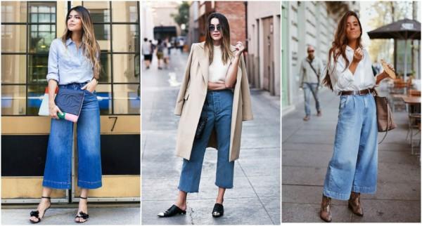 Os looks com pantacourt jeans podem ser variados