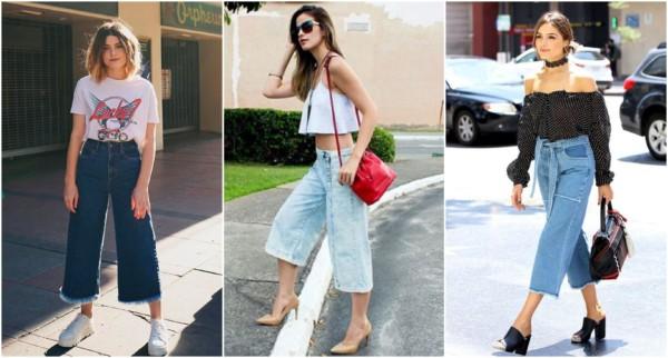 Looks de dia com uma pantacourt jeans