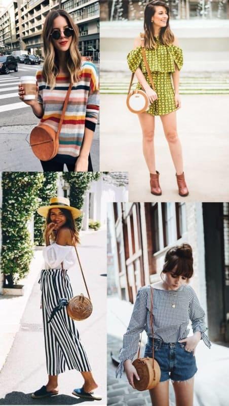 Looks de verão com bolsas redondas