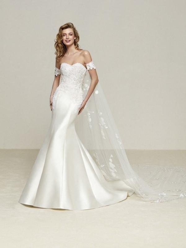 Modelo de vestido de noiva sereia ombro a ombro