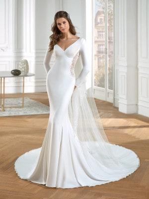 Noiva com vestido sereia clássico