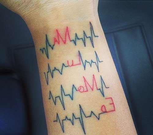 Tatuagem de enfermagem no pulso