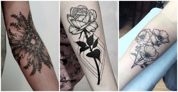 Tatuagem de flor no braço 1