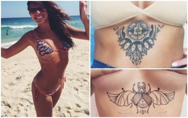 Tatuagem embaixo dos seios 1