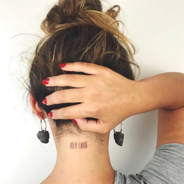 Tatuagem na nuca instigante