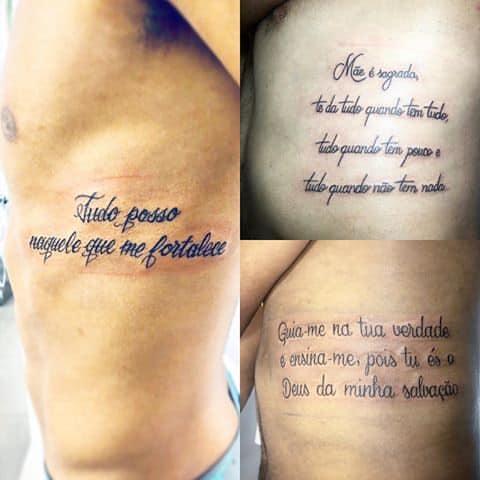 Três ideias de tattoos de frases masculinas