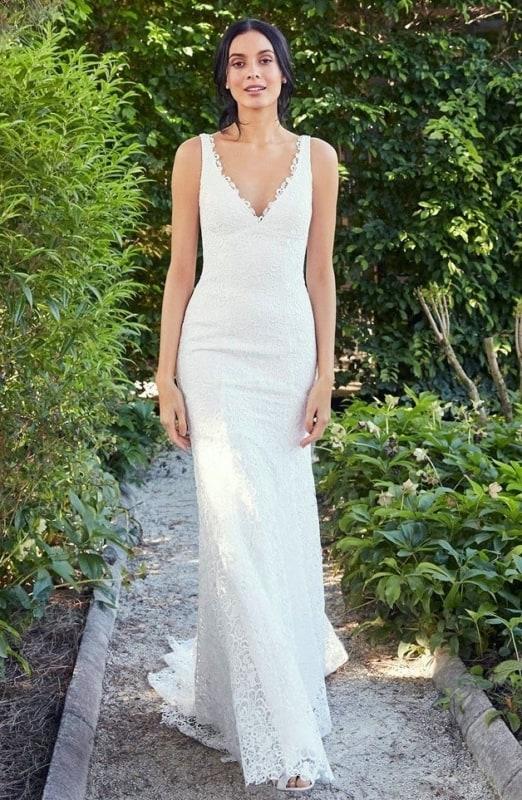 Vestido de noiva regata sereia