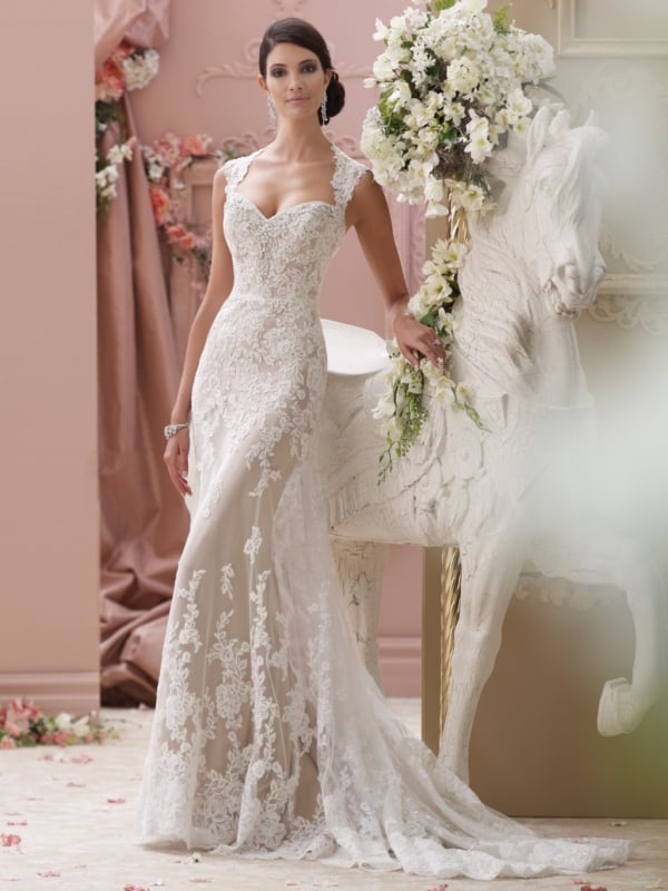 Vestido de noiva sereia delicado