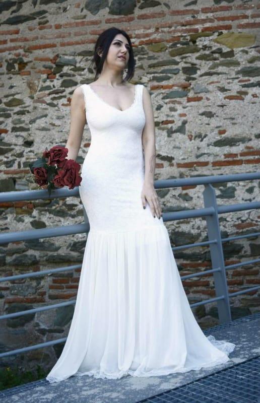 Vestido de noiva sereia lindo e simples