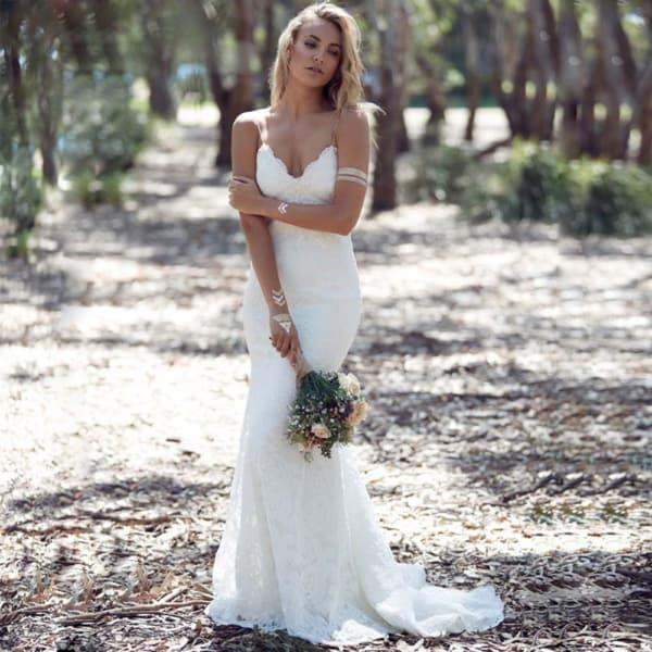 Vestido de noiva sereia para casamento boho