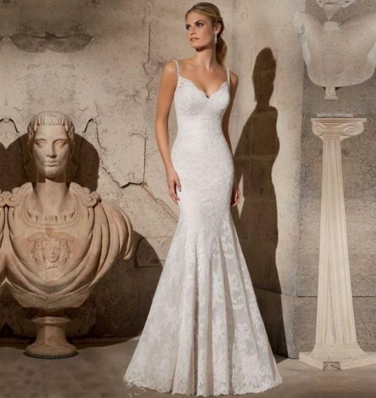 Vestido de noiva sereia para o verão