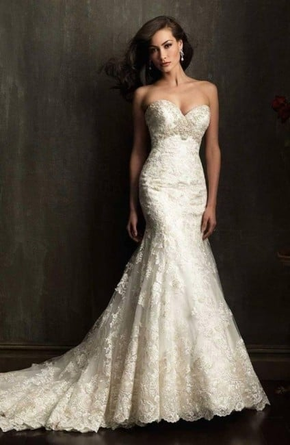 Vestido de noiva tomara que caia sereia