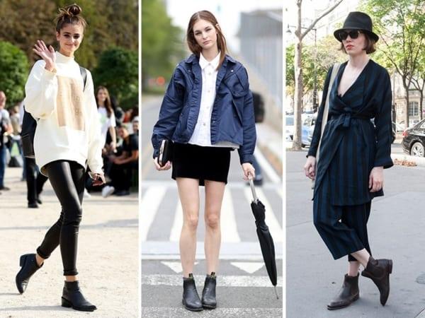 a moda da Bota chelsea feminina