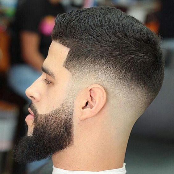 barba e cavanhaque desenhado