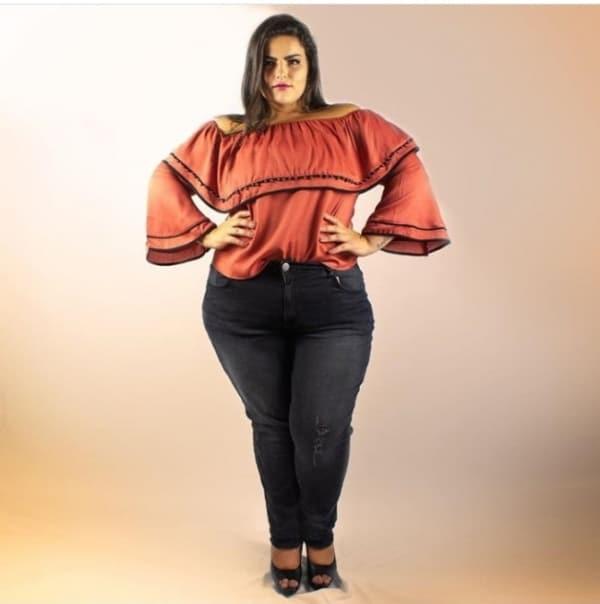 blusa ciganinha plus size classica