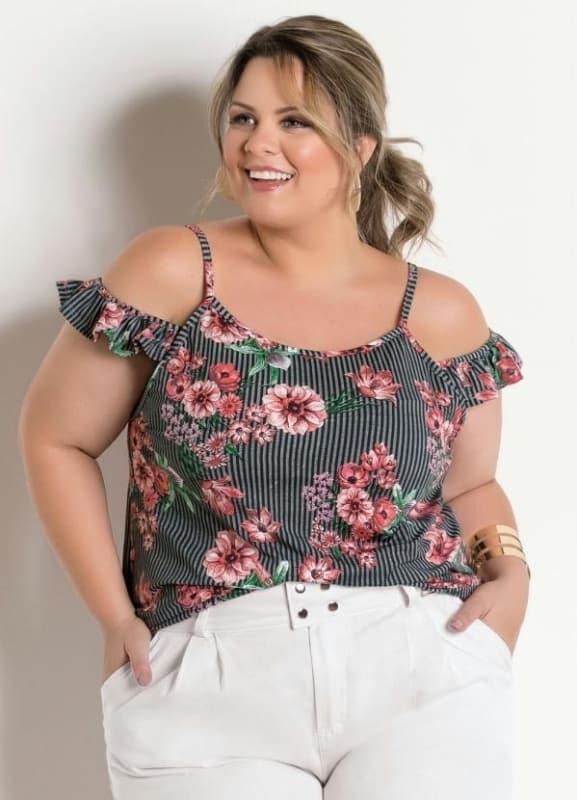 blusa ciganinha plus size dicas de looks