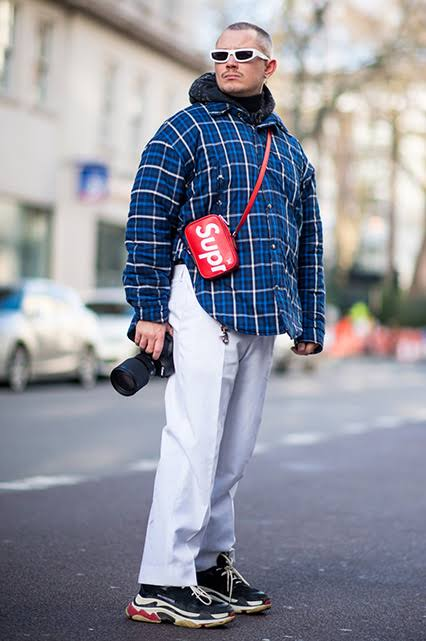 chunky sneakers men outfit