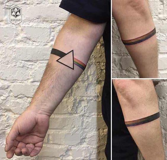 ideia de bracelete colorido