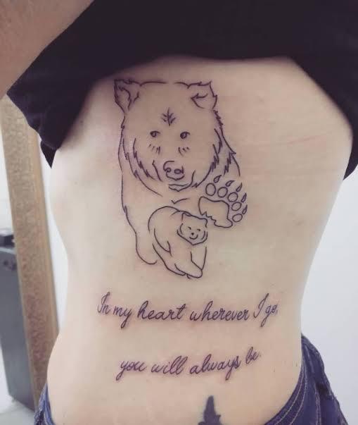 ideias de tatuagem mãe na costela