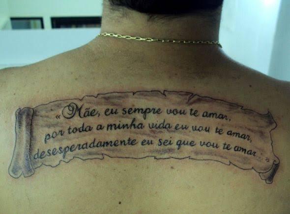 ideias de tatuagem mãe nas costas
