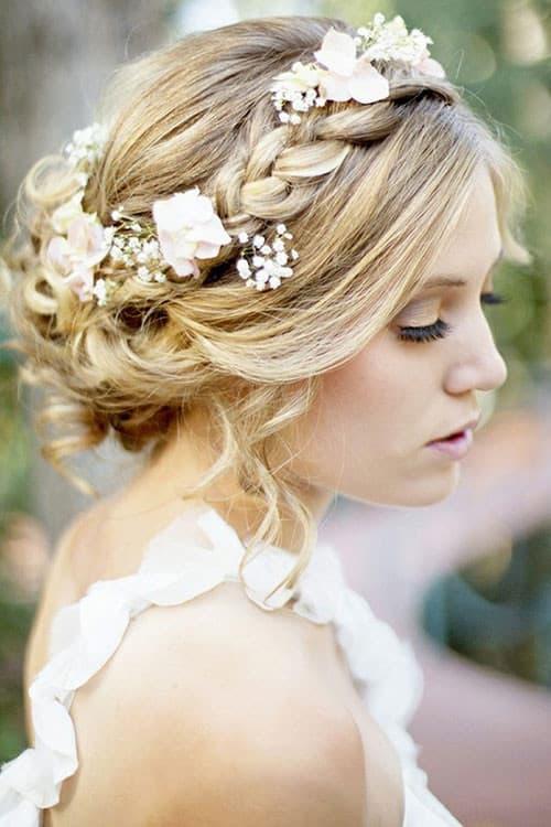 penteados de luxo loiro para casamento