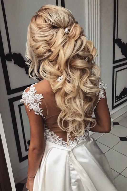 penteados de luxo para casamento cabelo muito longo