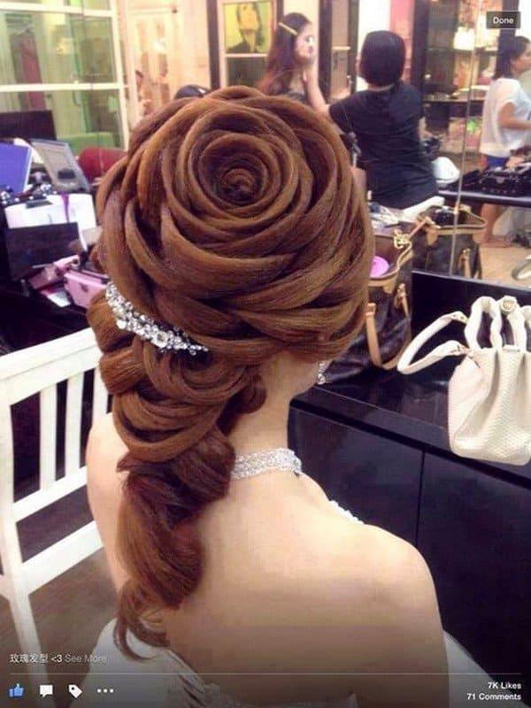 penteados de luxo rosa