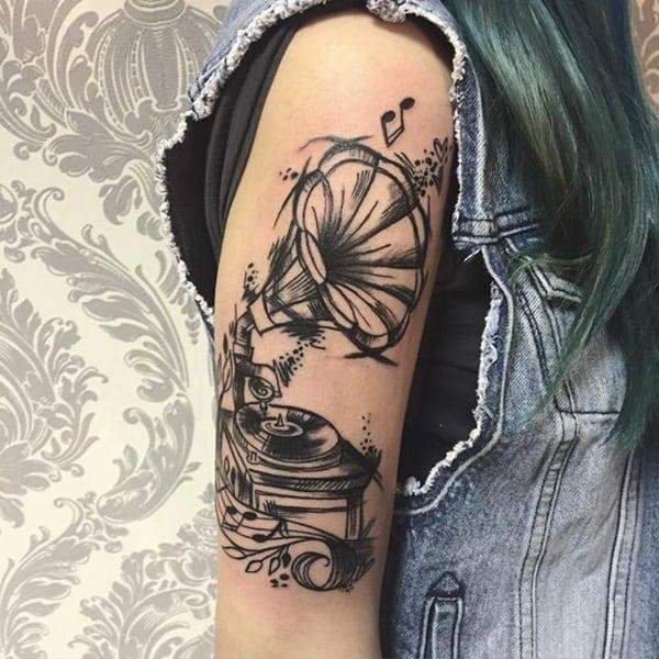 tattoo de musica no braço 1