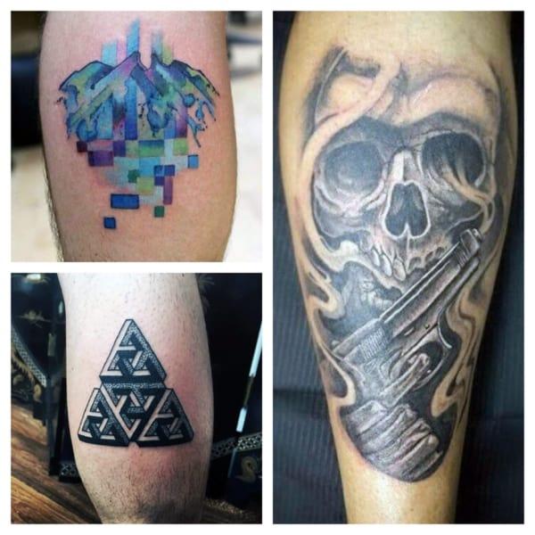 tattoo na panturrilha