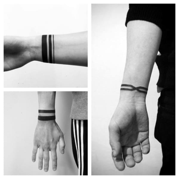 tatuagem bracelete masculino fino