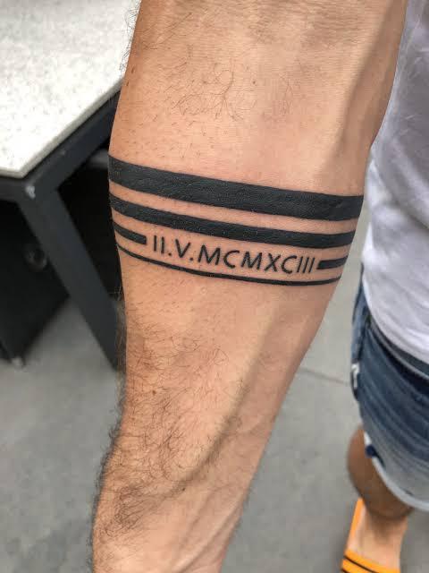 tatuagem bracelete masculino ideias