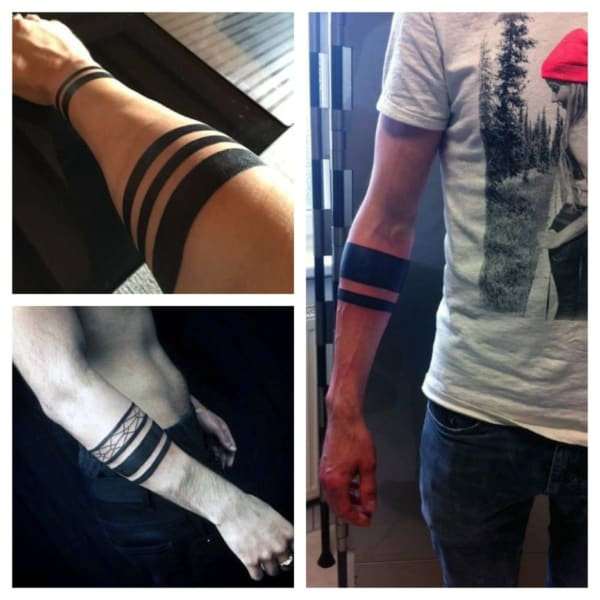 tatuagem bracelete masculino