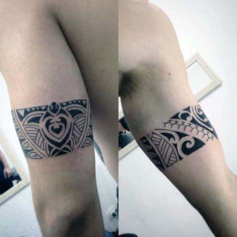 tatuagem bracelete tribal