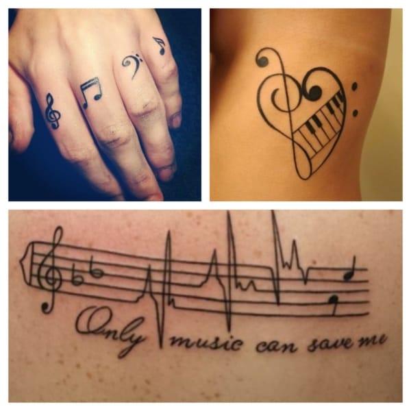 tatuagem de música ideias