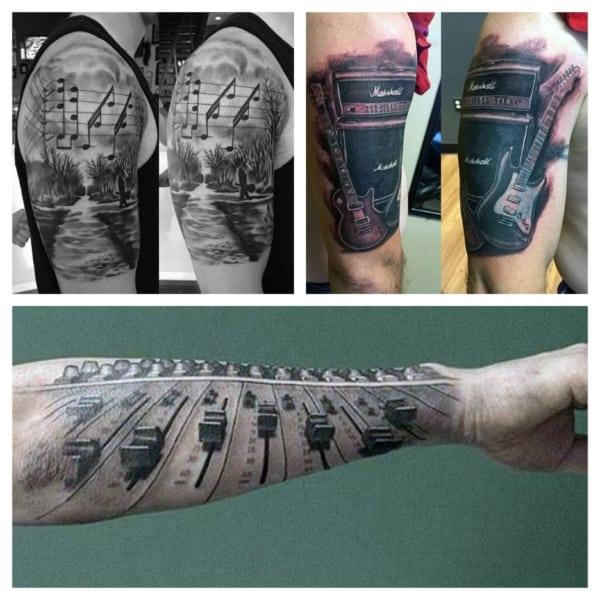 tatuagem de música