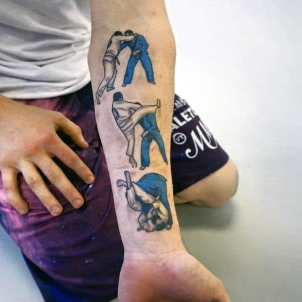 tatuagem jiu jitsu braço